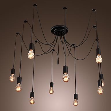 Chandelier Vintage Design Bulbs Included Living 10 Lights Pendant Light