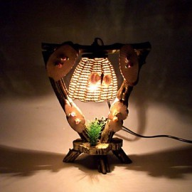 Creative Personality Is Novel Furnishing Articles Gifts Vintage Wooden Desk Lamp Led Light