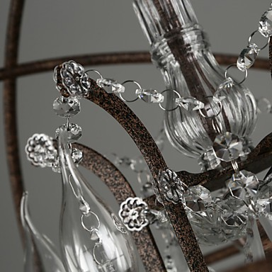 Chandeliers Crystal Traditional/Classic Bedroom / Dining Room / Entry / Hallway Metal
