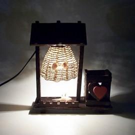 23*20.5CM Valentine'S Day Creative Furnishing Articles Gifts Brush Pot Vintage Boutique Handicraft Desk Lamp Led Light