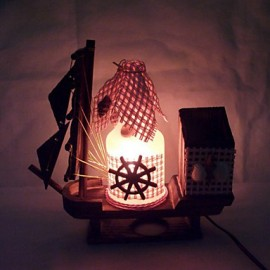 Valentine'S Day Creative Furnishing Articles Gifts Vintage Boutique Handicraft Bottle Marine Style Desk Lamp Led Light