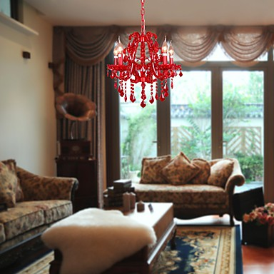 Max 40W Modern/Contemporary Crystal Chrome Metal Chandeliers Living Room / Bedroom