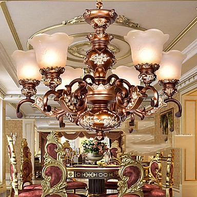 Chandeliers Traditional/Classic/Retro Living Room/Bedroom/Dining Room/Study Room/Office Metal