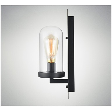 Rustic Style Fixtures Iron Glass Wall Sconce Retro Wall