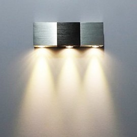 3W Modern Led Wall Light with Scattering Light Rectangular Aluminium Body