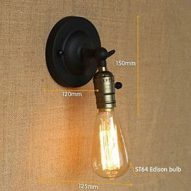 Edison Light Bulb Aisle Retro Minimalist Bedside Aisle Cafe Terrace Channel Mini Wall Sconce