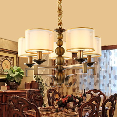 5 rustic lodge vintage mini style electroplated metal chandeliers living room bedroom for Small chandeliers for living room
