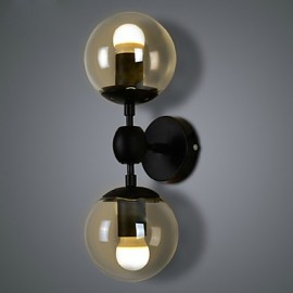 Wall Sconces / Glass ball 2 Lights/Outdoor / Indoor Wall Lightsl Rustic/Lodge Metal