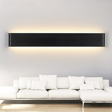 detailed look 4cfd9 f70a7 24W Modern LED Wall Sconces Light Indoor Black / White 72cm