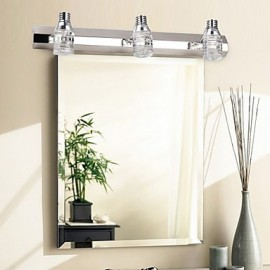 Modern Led Wall Light with Glass Bubble Shade Mirror Front Style