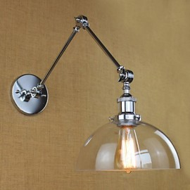 Chrome Glass Telescopic Retro Wall Lamp