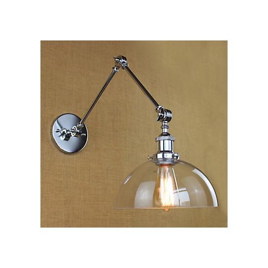 Wall Lamps Retro : Chrome Glass Telescopic Retro Wall Lamp - LightingO