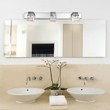 Wall sconces bathroom lighting wall washers crystal for Crystal bathroom wall sconces