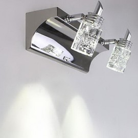 Crystal / LED / Bulb Included Bathroom Lighting , Modern/Contemporary LED Integrated Metal