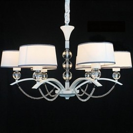 40w Modern/Contemporary Crystal Chrome Fabric Chandeliers Living Room / Bedroom / Dining Room / Hallway