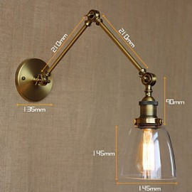 Retro Vintage RACK Bedroom Bedside Exclusive Hotel Lobby Decorated Antique Bronze Wall Sconce