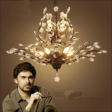 Mediterranean Restaurant Bedroom Retro Creative Suction Top Simple Lamps 5+3