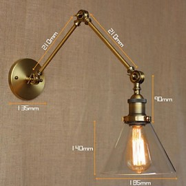 Industrial-Style Retro Vintage Stores Bedroom Modern Church Hall Decorated Bronze Wall Sconce