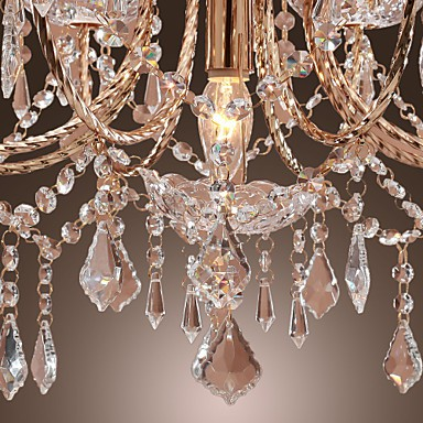 Elegant Crystal Chandelier with 9 Lights