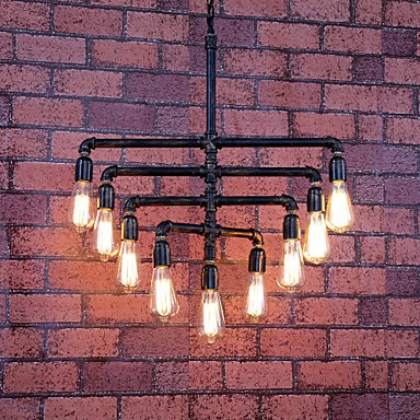 MAX:60W Vintage Bulb Included Painting Metal Flush Mount Bedroom / Dining Room / Entry / Hallway