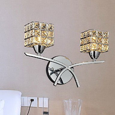 Crystal Wall Lights Contemporary : Modern Crystal Wall Light In 2 Lights 220-240V - LightingO