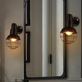 Mini Style Wall Sconces , Rustic/Lodge E26/E27 Metal