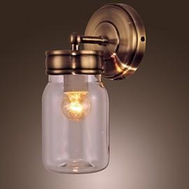 Rustic Wall Light In Bottle Shape