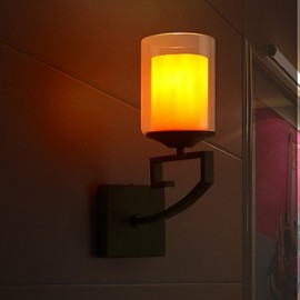 22*35CM Retro Glass Simple Single Head Wall Lamp LED Light Wall Sconces Crystal / LED Modern/Contemporary Metal