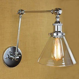 Silver Mediterranean Village complex decorative wall sconce