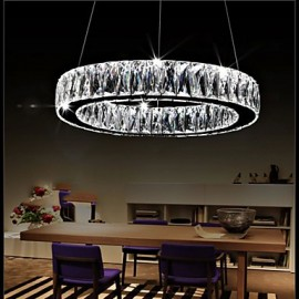 Crystal LED Chandeliers Lights Lighting Modern Single Rings D60CM K9 Large Crystal Indoor Ceiling Light Fixtures