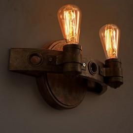 E27 30*20CM 10-15㎡Loft American Creative Restoring Ancient Ways, Wrought Iron Full Moon Machetes Wall Lamp Led Lights