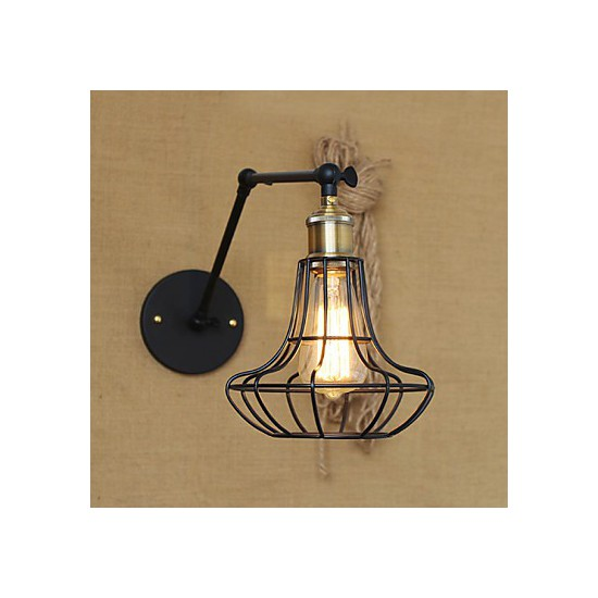 Rustic Lodge Wall Sconces : Wall Sconces / Swing Lights / Reading Wall Lights Mini Style Rustic/Lodge Metal - LightingO