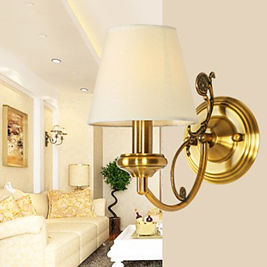 Classic Bedroom Wall Lamps, Simple Metal Living Room Wall Sconce Bar ...