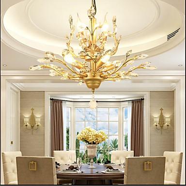 Mediterranean Restaurant Bedroom Retro Creative Suction Top Simple Lamps 4+3