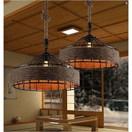 2 Light 40W Country Designers Others Metal Chandeliers Living Room / Bedroom / Dining Room / Study Room/Office Pendant Light