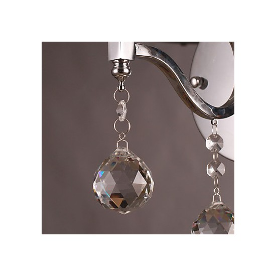 Next Crystal Wall Lights : Silvery Crystal Wall Light with 1 Lights - LightingO