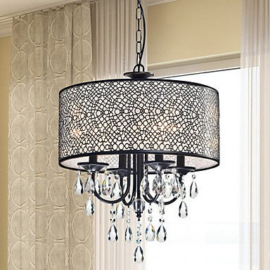 MAX:60W Traditional/Classic Crystal Painting Metal Chandeliers Bedroom / Dining Room / Entry