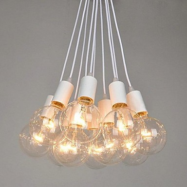 60W Country Bulb Included Painting Metal Chandeliers Bedroom / Dining Room / Study Room/Office / Hallway