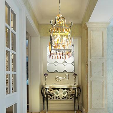BOXIMIYA Rural Dining-Room of Europe Type Droplight American Country Rectangular Shell Lamp, Porch Lamp