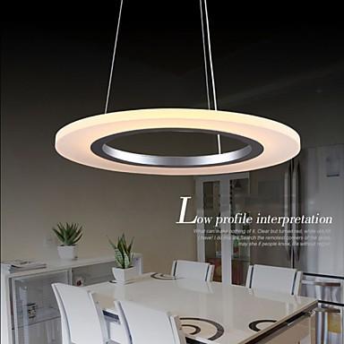 LED Pendant Light Round Ceiling Chandelier Milky Acrylic