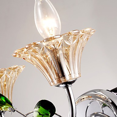Wall Sconces Bathroom Lighting Candle Wall Lights Crystal Modern Contemporary Metal Lightingo