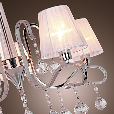 Max 40W Modern/Contemporary Crystal Electroplated Chandeliers Living Room / Study Room/Office