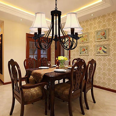 Max 60W Traditional/Classic Antique Brass Chandeliers Living Room