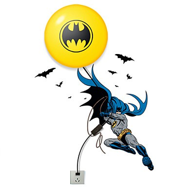 Batman Wall Light Diy : 28*7*28CM Creative Fashion Batman Wallpaper Diy Wall Stick Small Night Lamp Wall Lamp Led Lights ...
