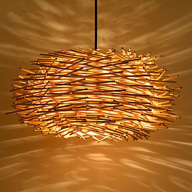 Chandeliers Mini Style / Bulb Included Lantern Bedroom / Study Room/Office / Kids Room / Game Room Wood/Bamboo