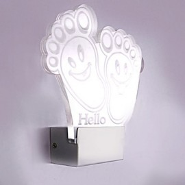 Acrylic Wall Lamp PVC Lamp Light Chip LED / Bulb Included Modern/Contemporary Metal 220V 5㎡-10㎡ L20*H21*W5CM 5W