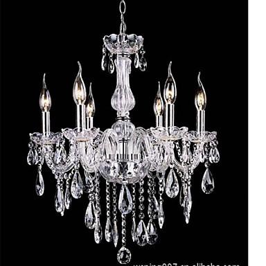 6 Arms Vintage Luxury led Lighting K9 Crystal Chandelier Ceiling Pendant Light
