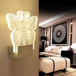 Acrylic Wall Lamp PVC Lamp Light LED / Bulb Included Modern/Contemporary Metal 220V 5㎡-10㎡ L18.5*H18.5*W5CM