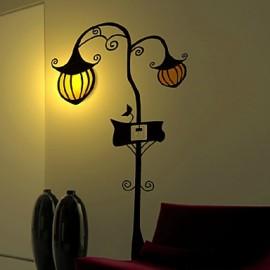 220V Pumpkin High Temperature Resistant Plastic LED Light And Creative 3D Wall Paper Wall Lamp