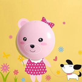 0.6W 220V Wall stickers bear light-activated intelligent electric induction led smetope adornment wall lamp 35*21.5CM